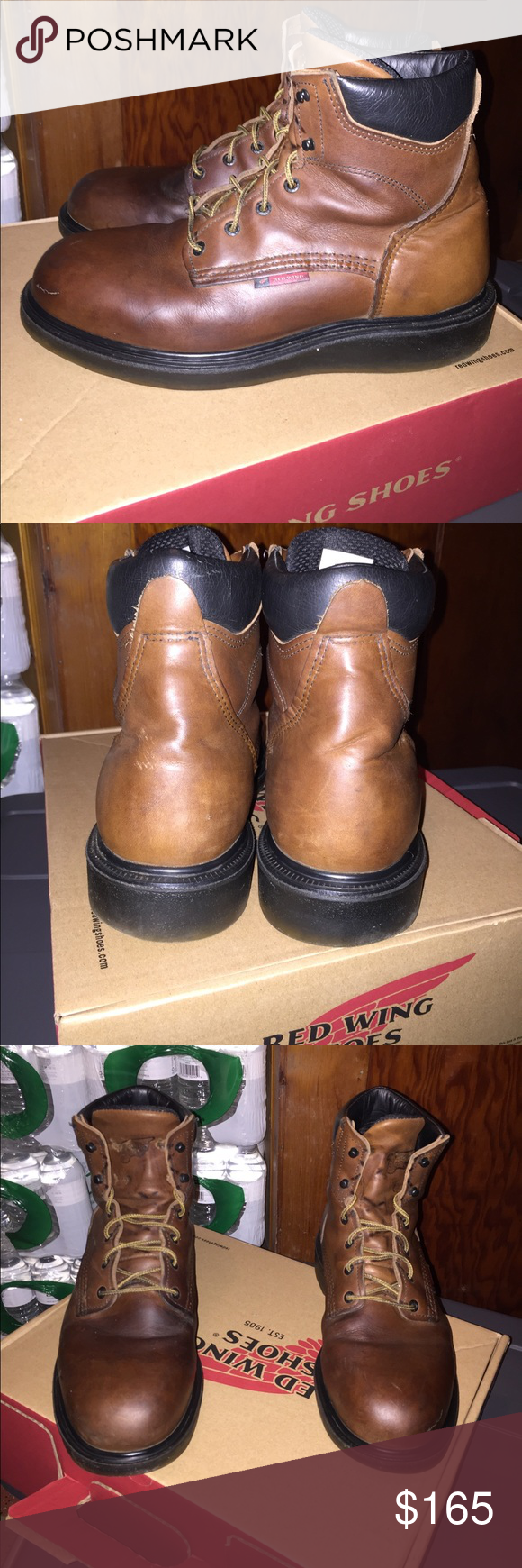 Men S Redwing Boots Red Wing Model 676 Size 10 5 D Width Worn Maybe 5 Times Red Wing Shoes Shoes Boots Mens Redwing Boots Red Wing Boots Boots