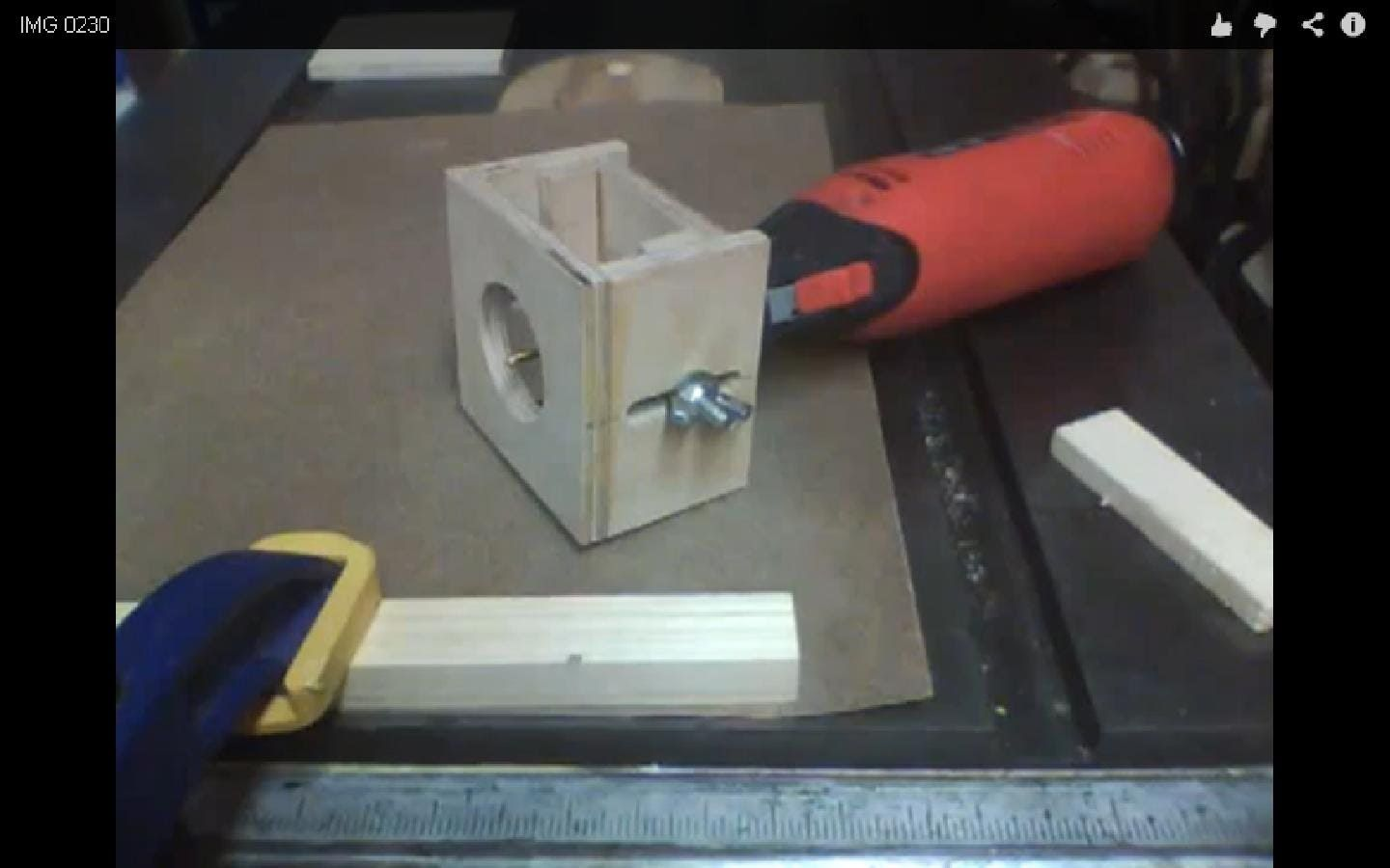 Homemade router table top  Make a Rotary Tool Router Base  herramientas  Pinterest  Rotary tool