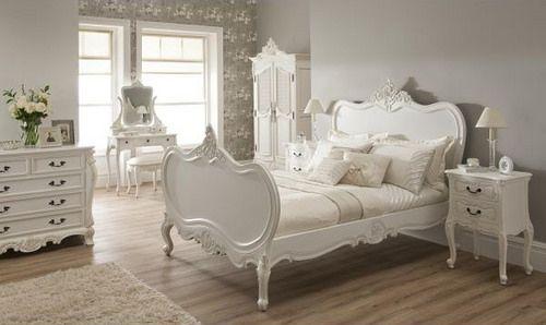 Lit Louis XV Shabby chic déco chambre Pinterest Cream bedrooms