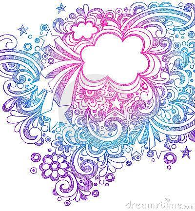 Abstract sketchy notebook doodles by blue67 via - Marcos de corazones para fotos ...