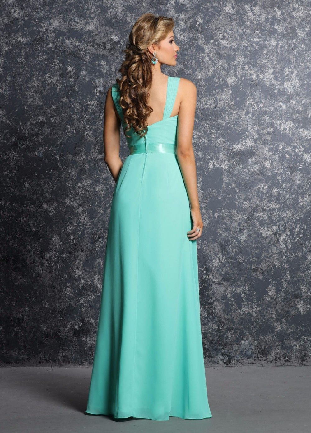Elegant bright green pleated chiffon a line long bridesmaid elegant bright green pleated chiffon a line long bridesmaid dresses ombrellifo Image collections