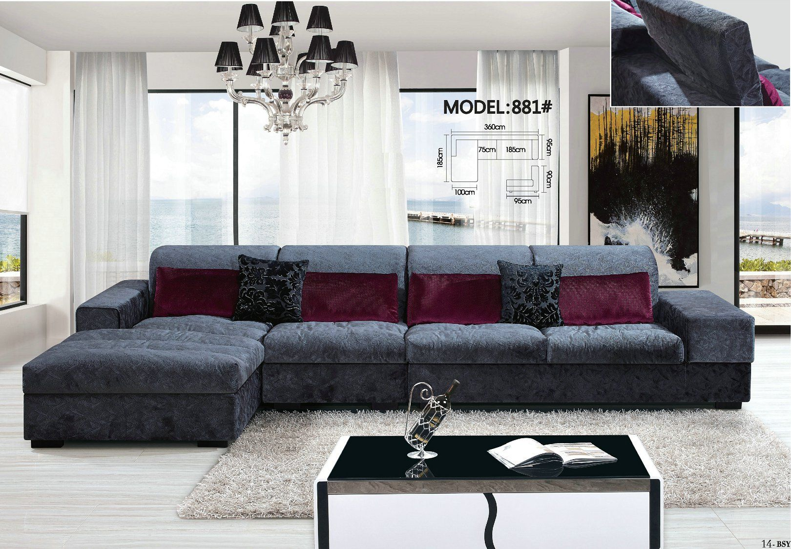 Pin By Molan On Modern Fabric Sofa Living Room Sofa Set Modern