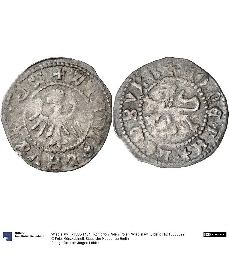 Polen Wladislaw Ii Münze Wladislaw Ii 1386 1434 König Von