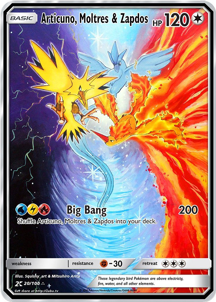 Articuno Moltres Zapdos Custom Pokemon Card Pokemon Pokemons