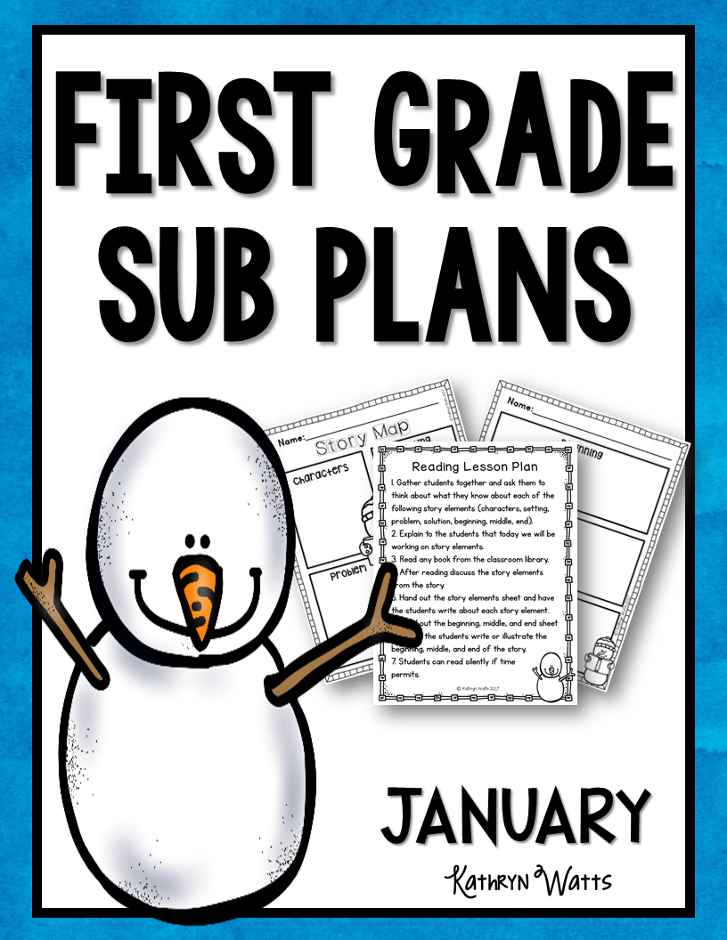 First Grade January Sub Plans - #first #Grade #january #plans