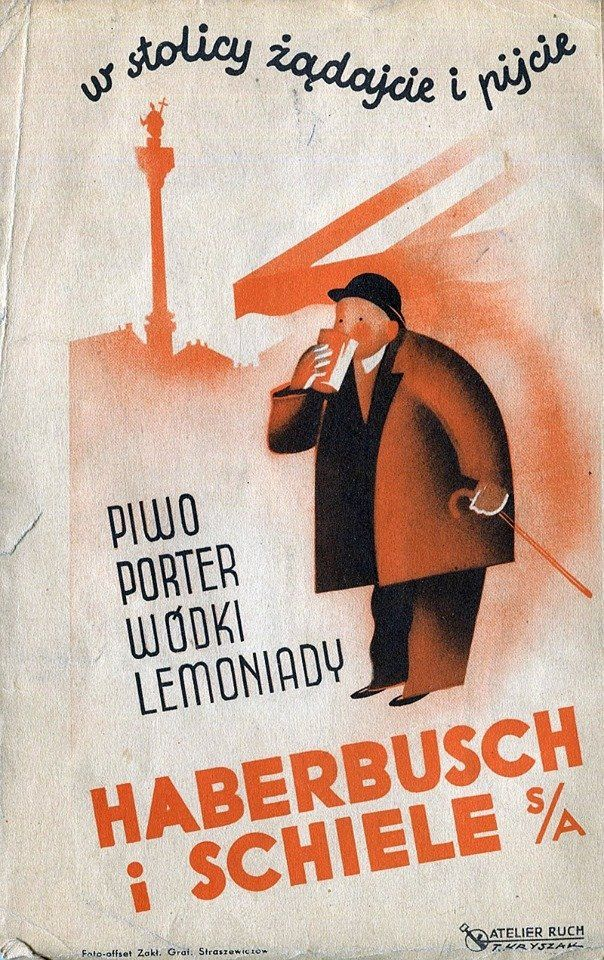 Zaklad Piwa Haberbusch I Schiele Art Deco Posters Polish Poster Historic Posters