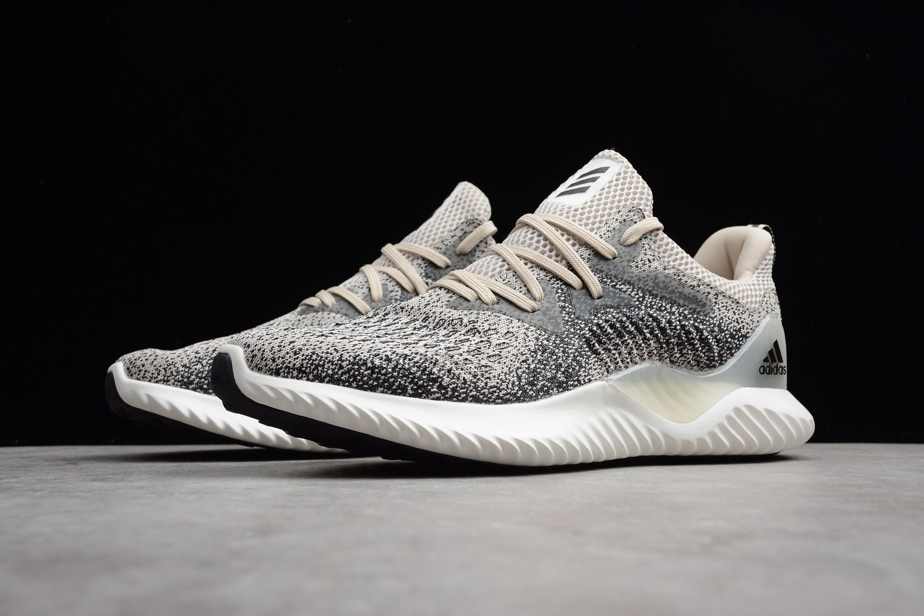 f3984d607 2018 adidas AlphaBounce Beyond M Beige Black B42287 Free Shipping