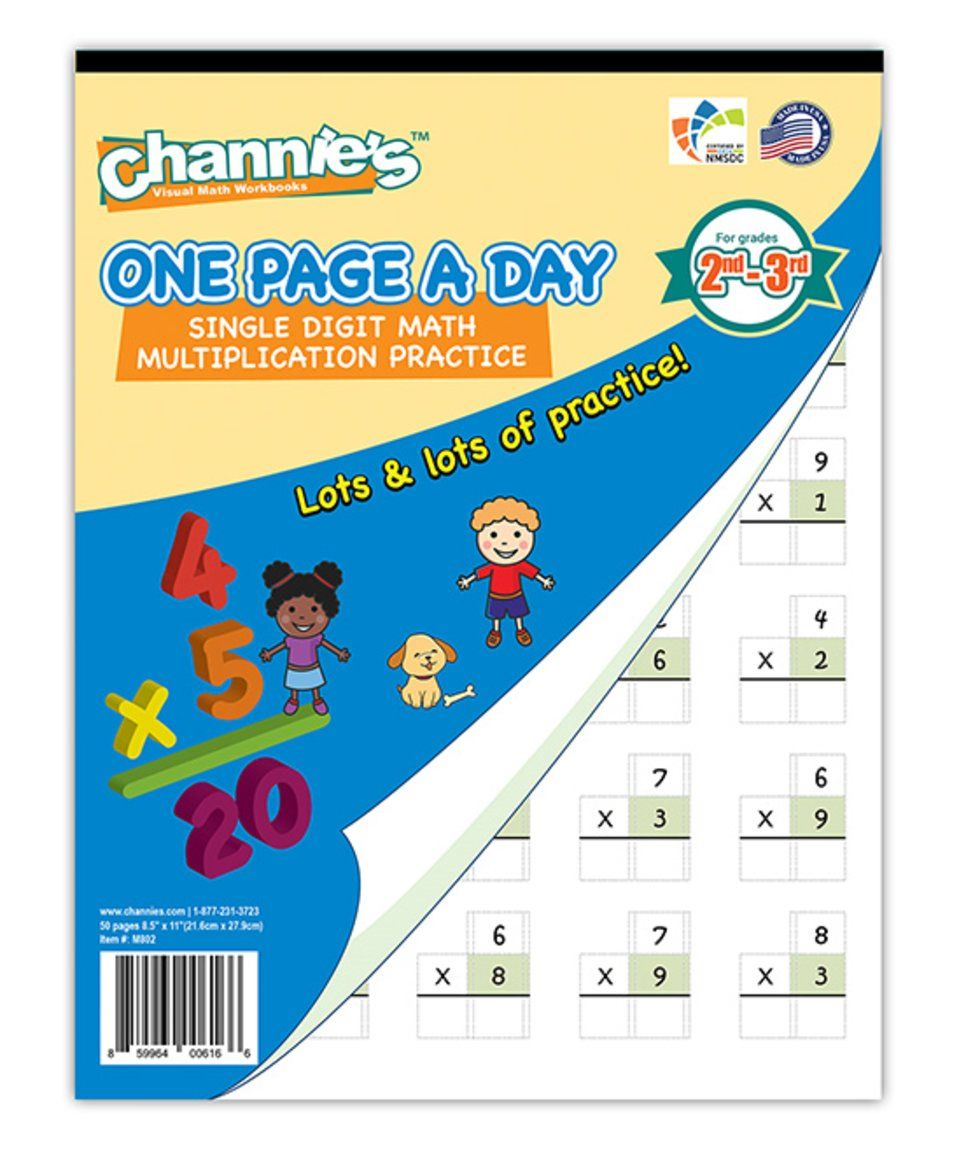 Take a look at this One Page A Day Math Multiplication Workbook ...