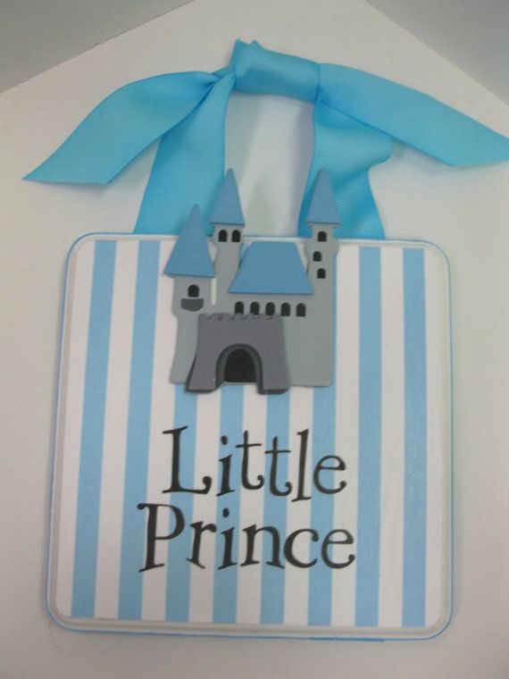 Little Prince Baby Nursery Door/Wall Hanger by RibbonMade on Etsy, $23.00