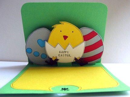 Popup Easter card Easter Spring Cards 1 Pinterest – Easter Cards Handmade