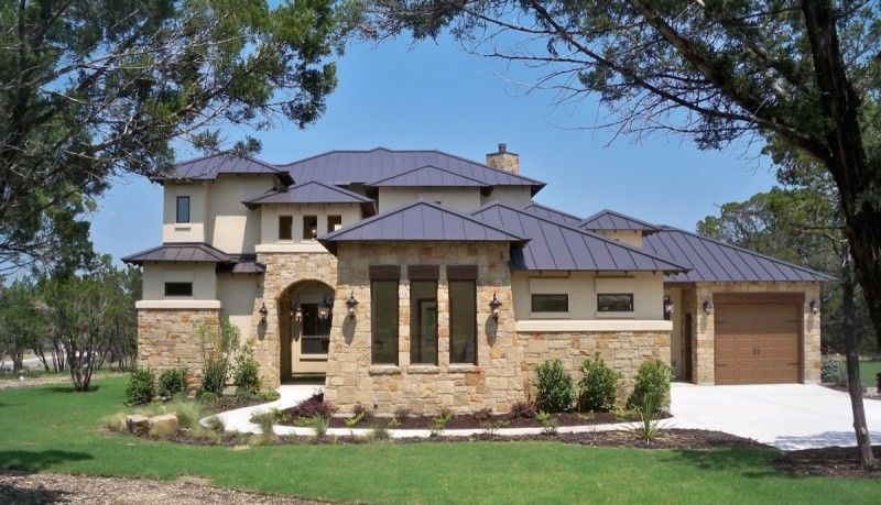 Hill Country Home Plans bijou texas hill country home plan with dark brown roof with