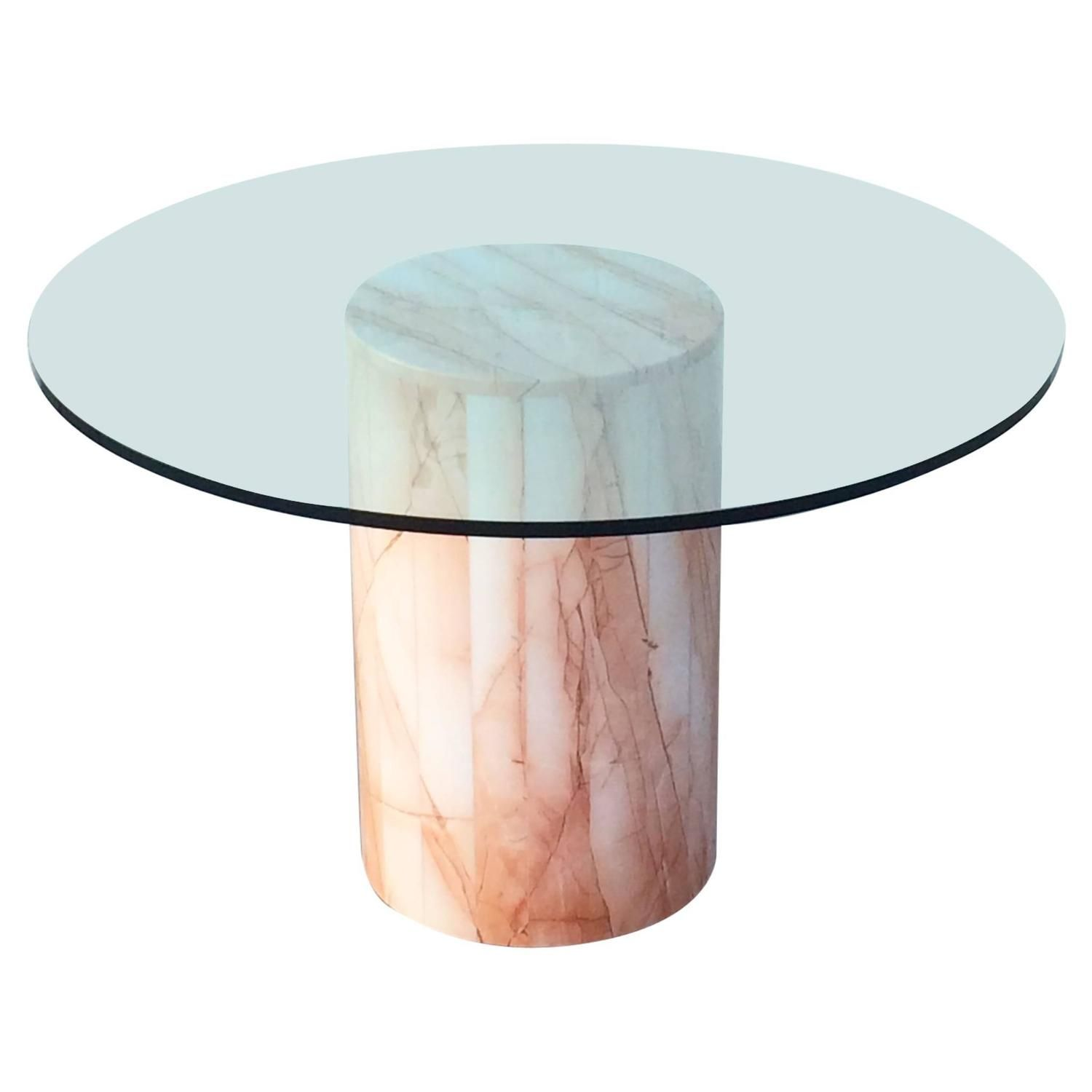 Italian Marble And Glass Dining Table Dining Room Table Marble