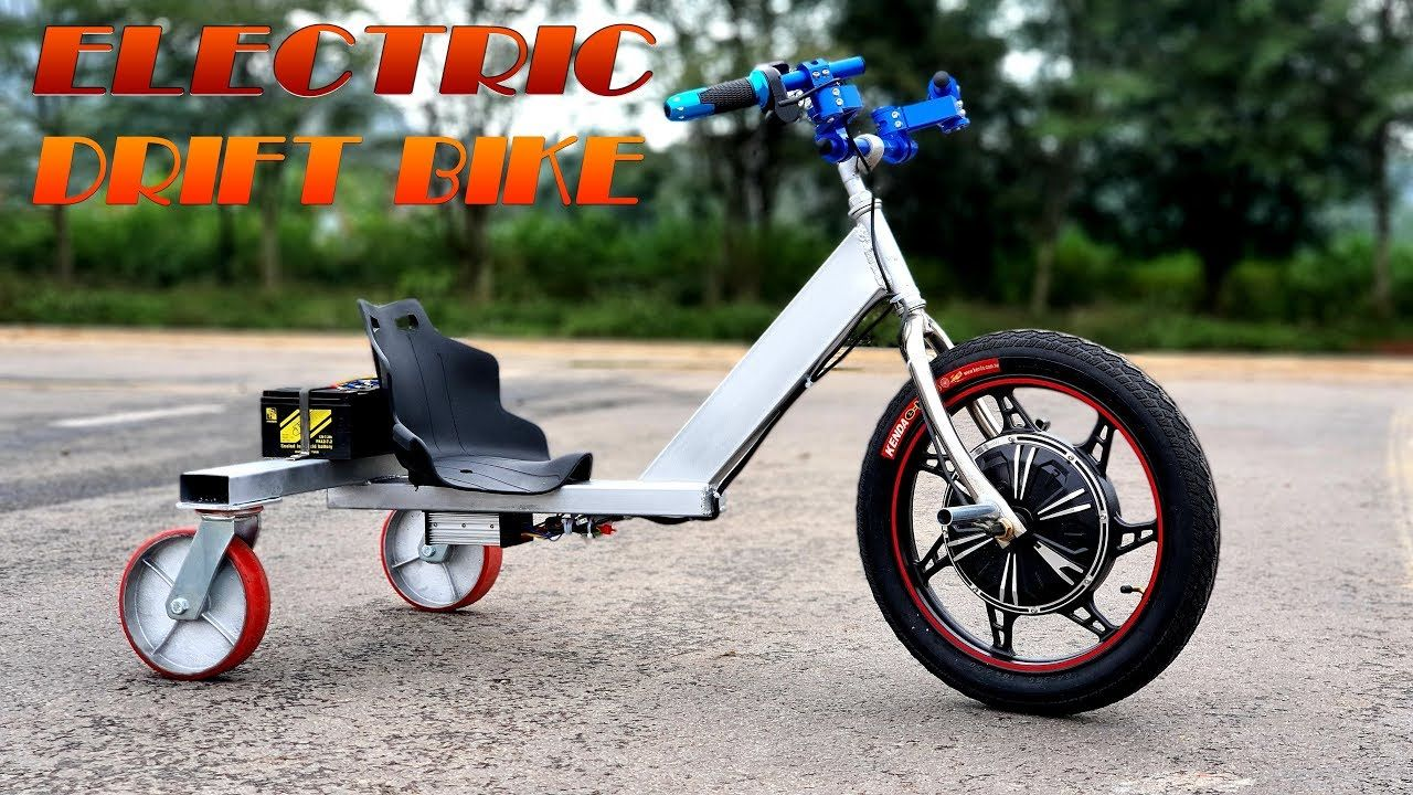 Build A 500w Electric Drift Bike V2 Trike Drifting Tutorial