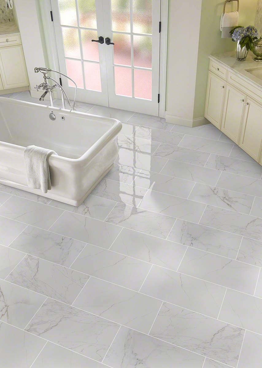Carrara Pietra Porcelain B Bath Remodel Porcelain Flooring