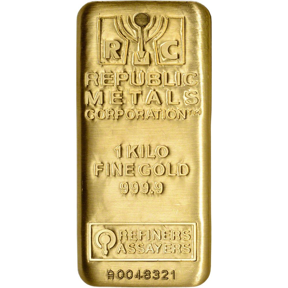 Kilo 32 15 Oz Rmc Gold Bar Republic Metals Corp 999 9 Fine With Assay