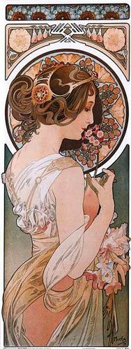 Art Nouveau: an attemt to develop a new artistic style; emphasized sinuous, curved lines, contorted and stylized forms from nature, and a constant sense of movement