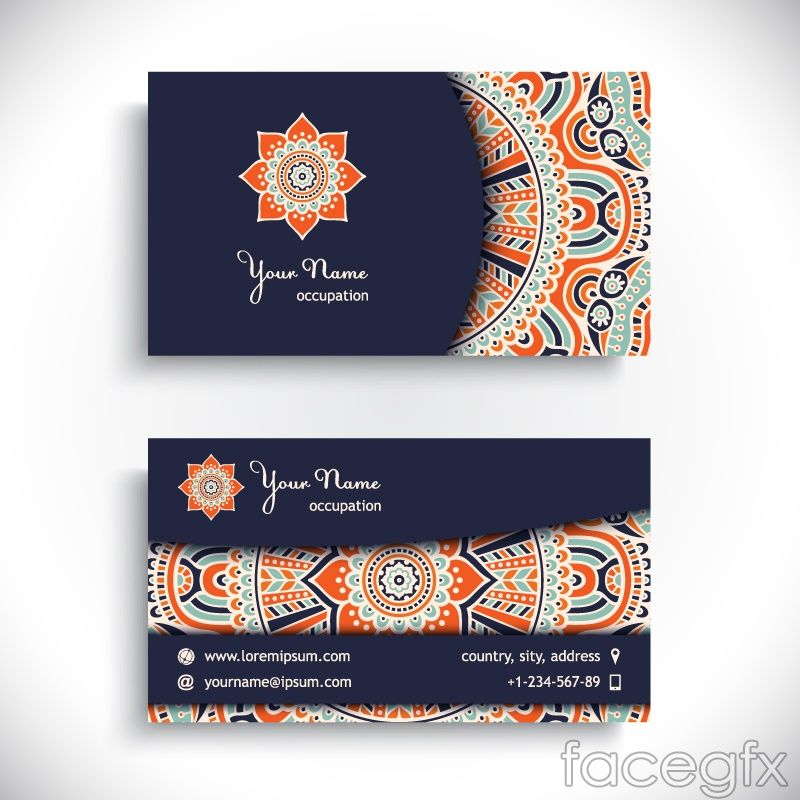 Creative people pattern business cards vectors free vectors creative people pattern business cards vectors reheart Gallery