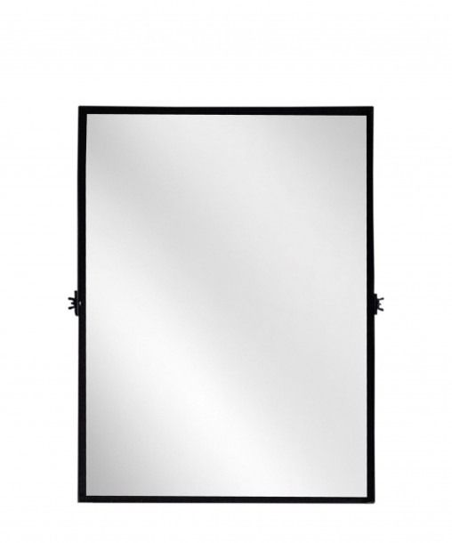 Photo of Large Mirror With Thin Black Frame