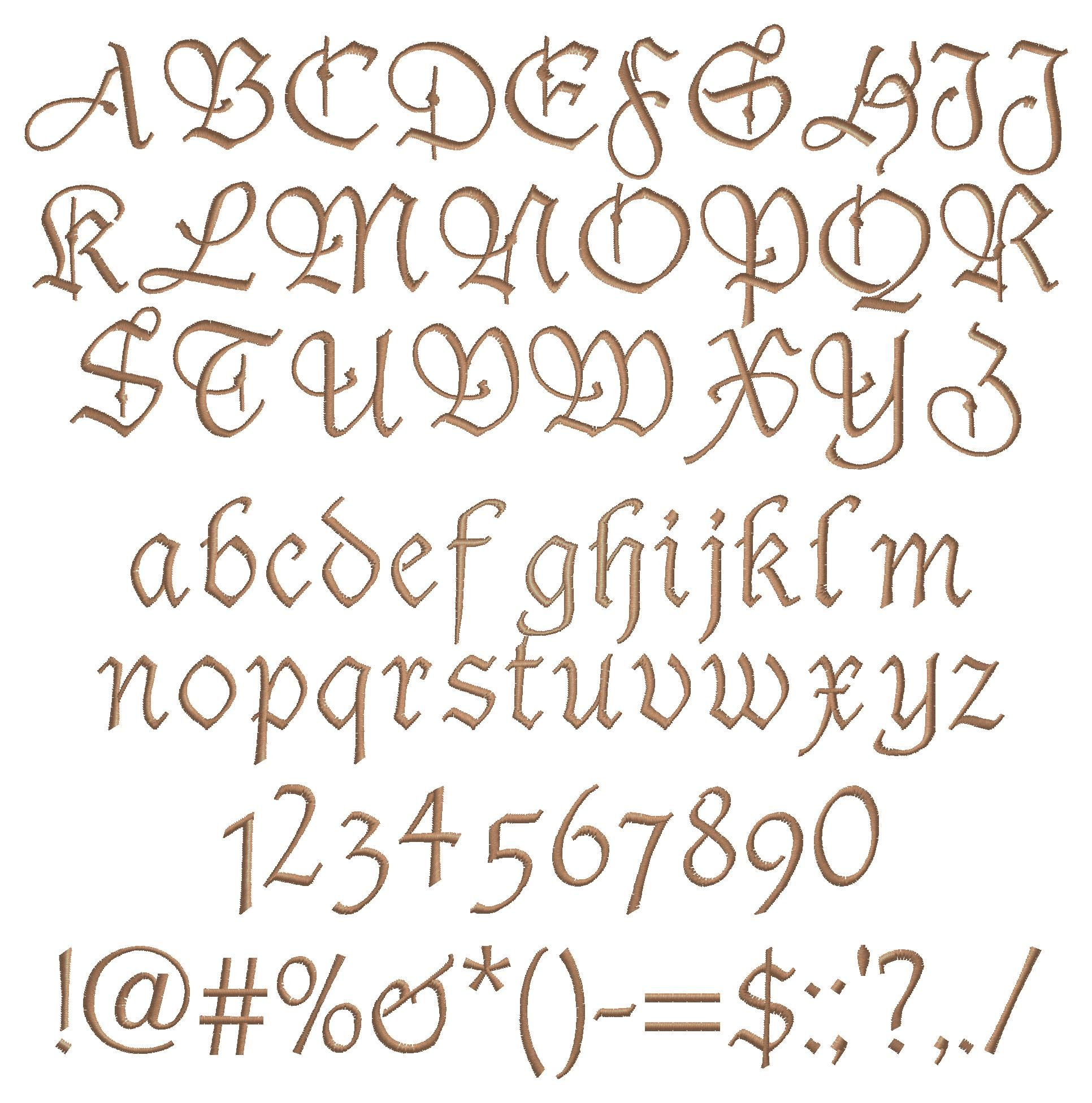 Fancy script alphabet uppercase and lowercase