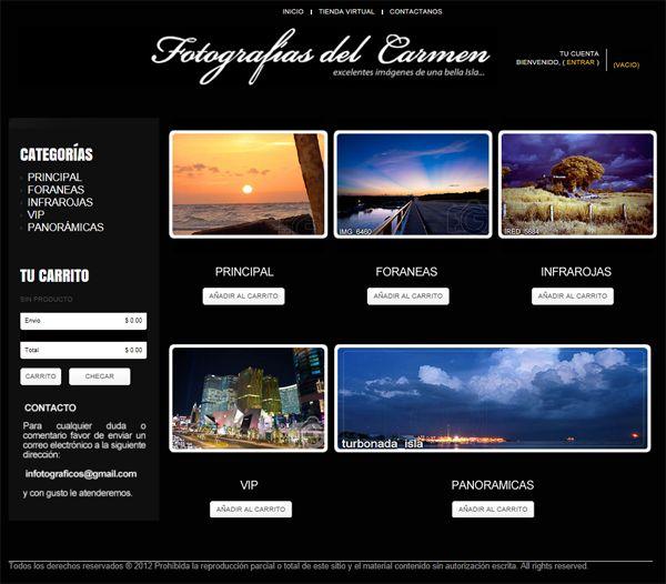 Diseño catalogo virtual Fotografías del Carmen