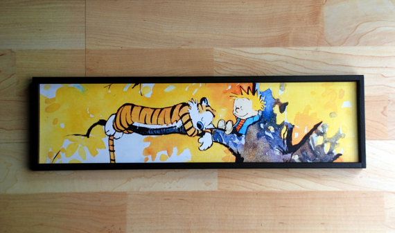 Calvin and Hobbes Autumn Tree Framed Print 18\