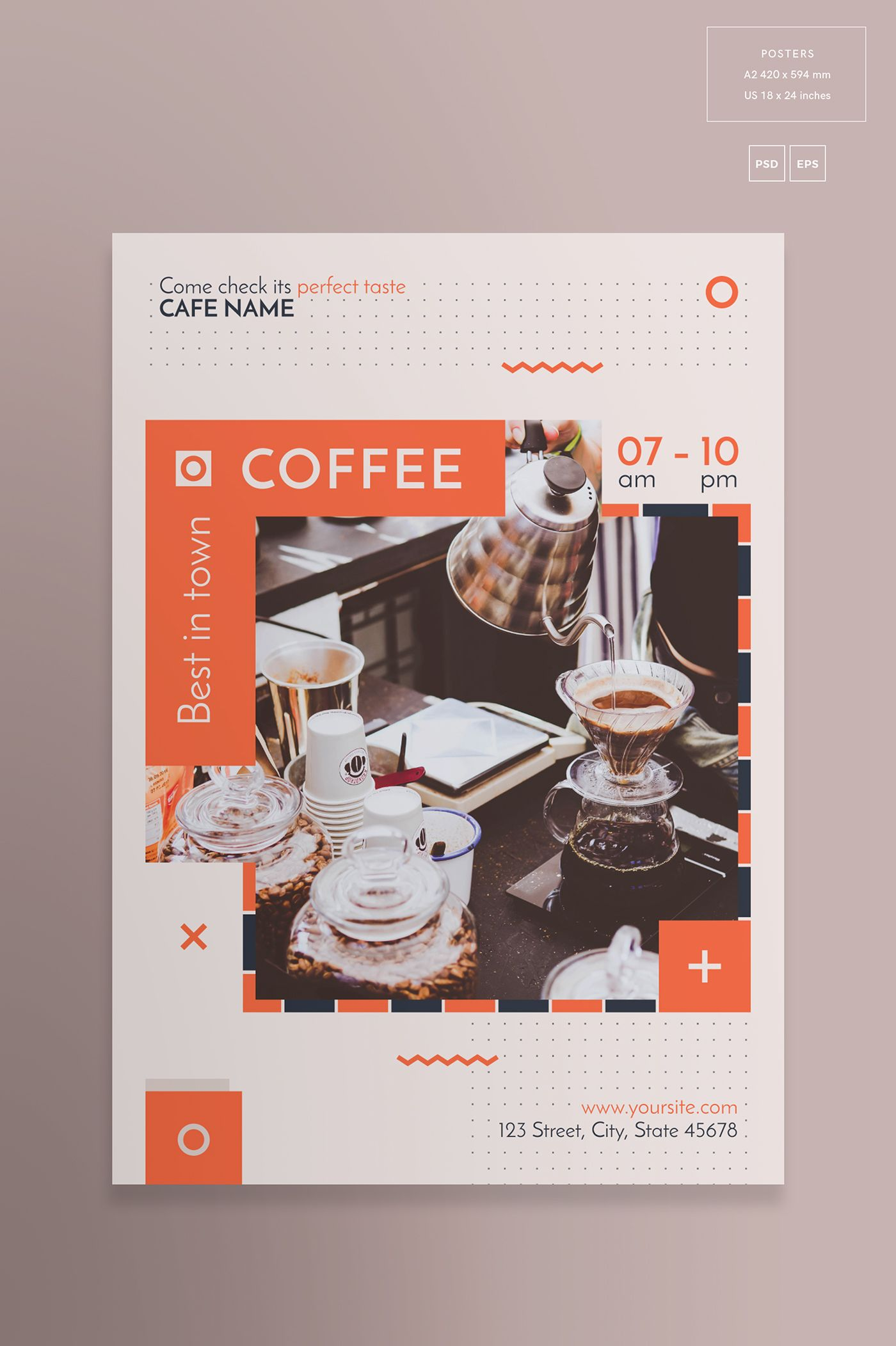 Copy of Coffee House Flyer | PosterMyWall |New Coffee Shop Flyer
