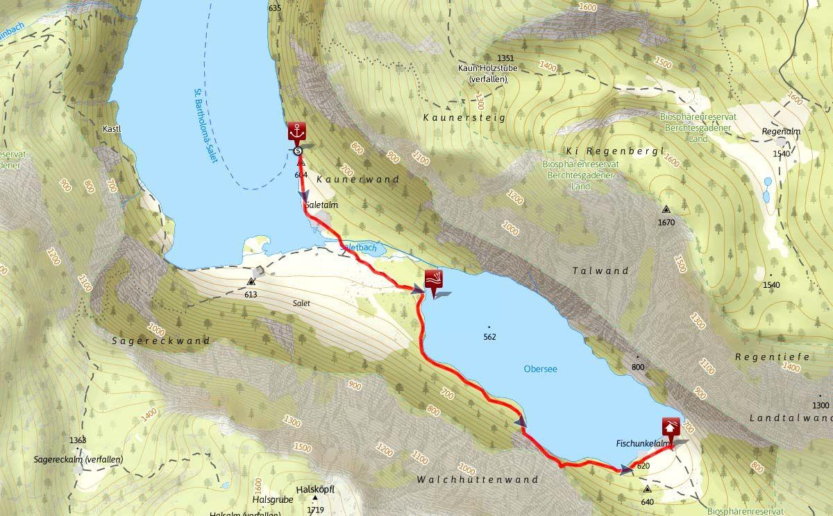 Obersee Wanderung Von Salet Zur Fischunkel Oberer See Obersee Konigssee Ausflug
