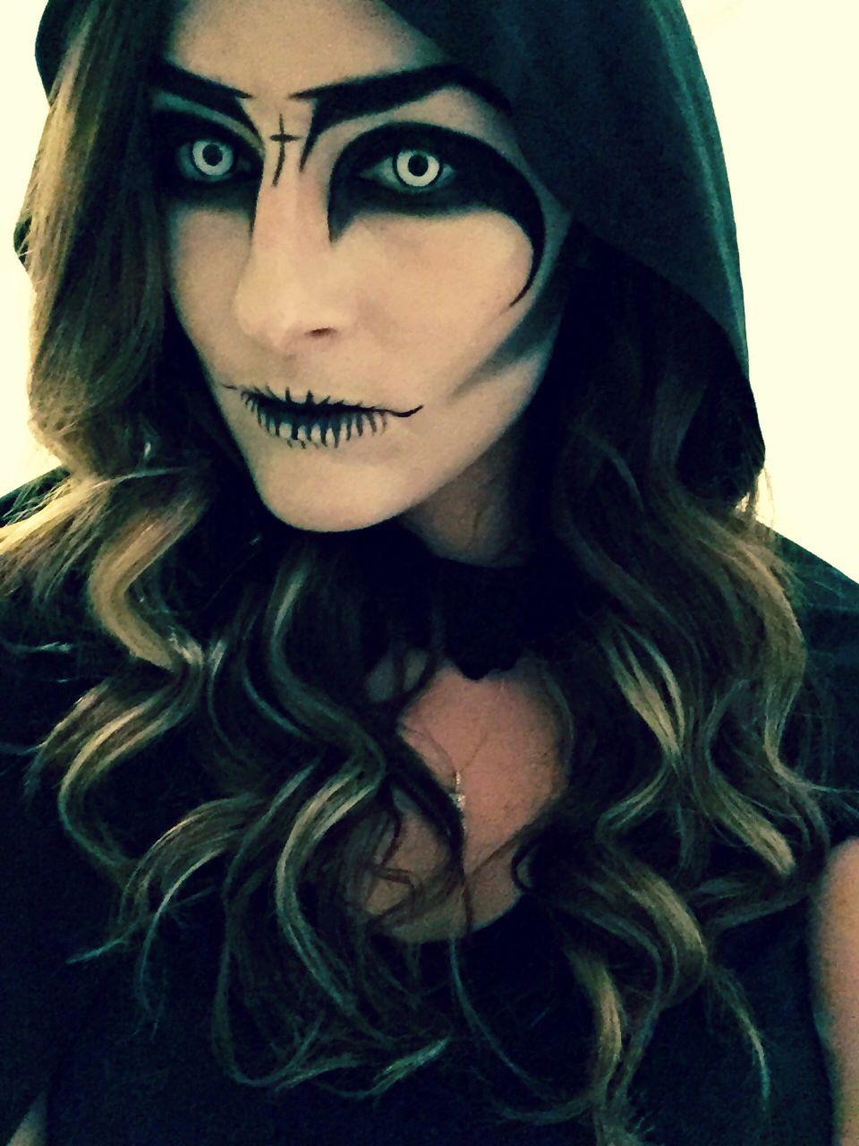 Easy Grim Reaper Makeup : reaper, makeup, Reaper, #makeup, #halloweenmakeup, #halloween, #grimreaper, #demon, #scarymakeup, #spooky, #ar…, Halloween, Costumes, Makeup,, Makeup, Witch