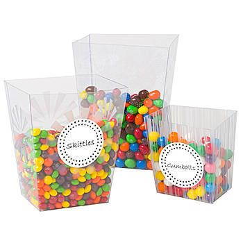 Candy Buffet Clear Container Set 3