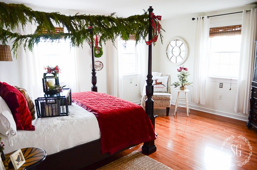 decorate your bedrooms for christmas stonegable - How To Decorate Your Bedroom For Christmas