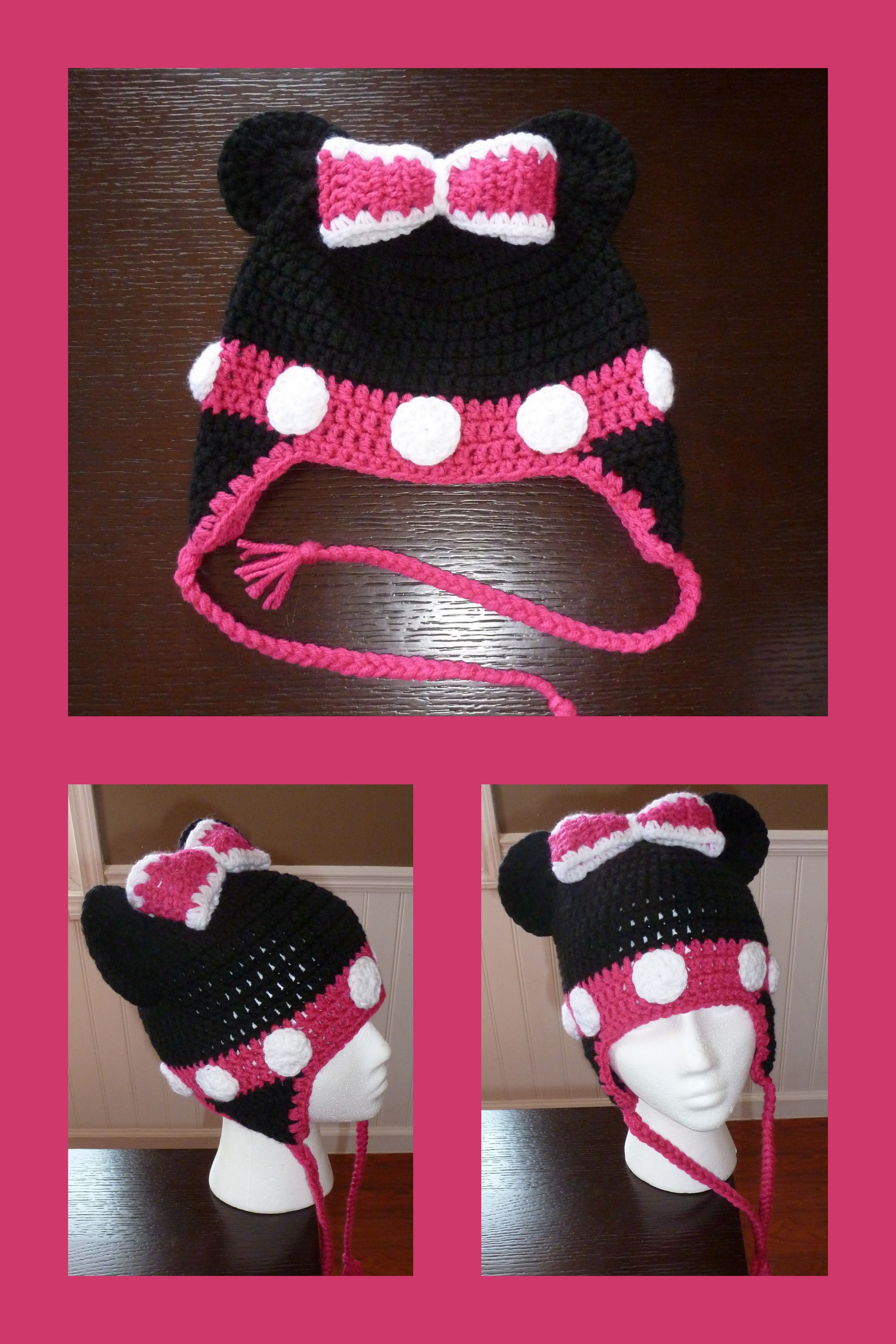 Minnie Mouse Inspired hat $15.00 each  Made to Order