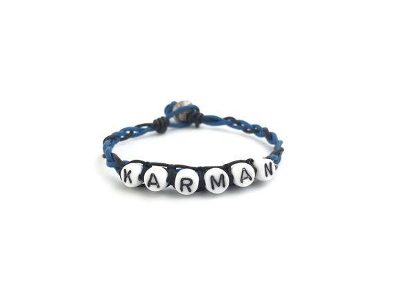 Diy Braided Leather Bracelet Kit Alphabet By Nloiscrafts On Etsy