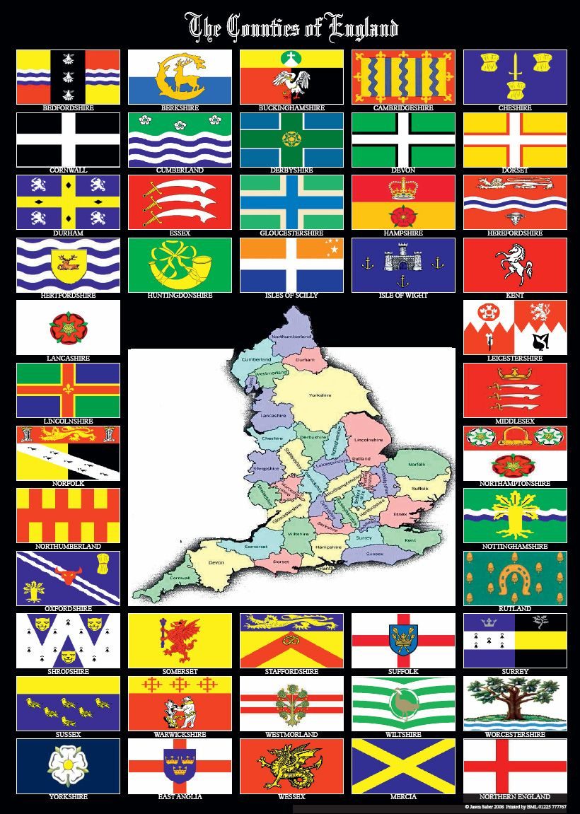 Flag gallery british county flags - English County Flags