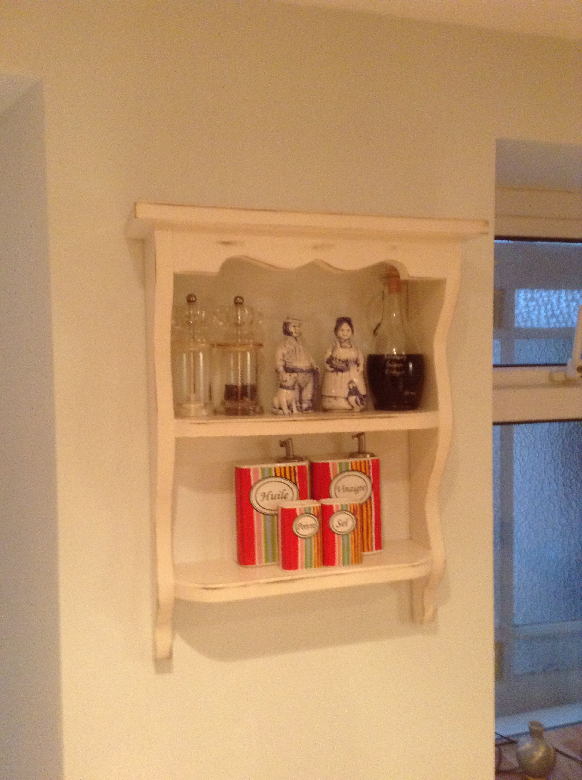 Shelves from E-bay for my lovely salt and pepper Farmer and his wife.