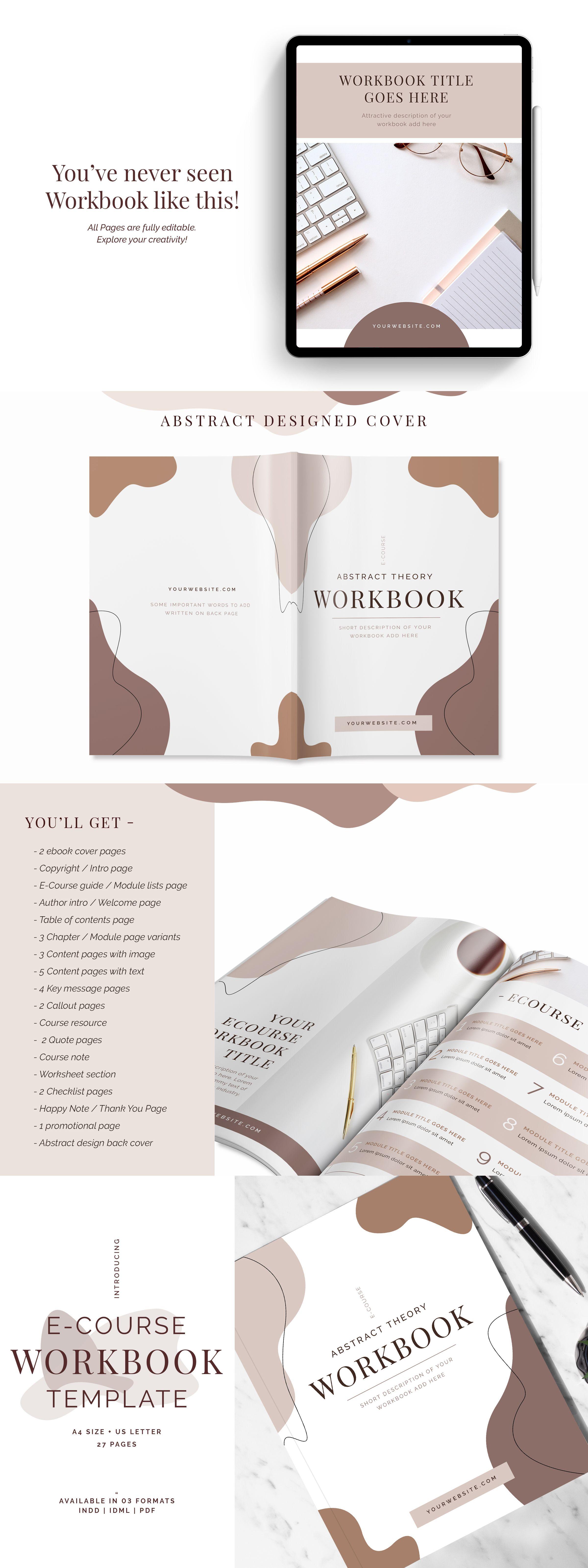 E Course Workbook Template In