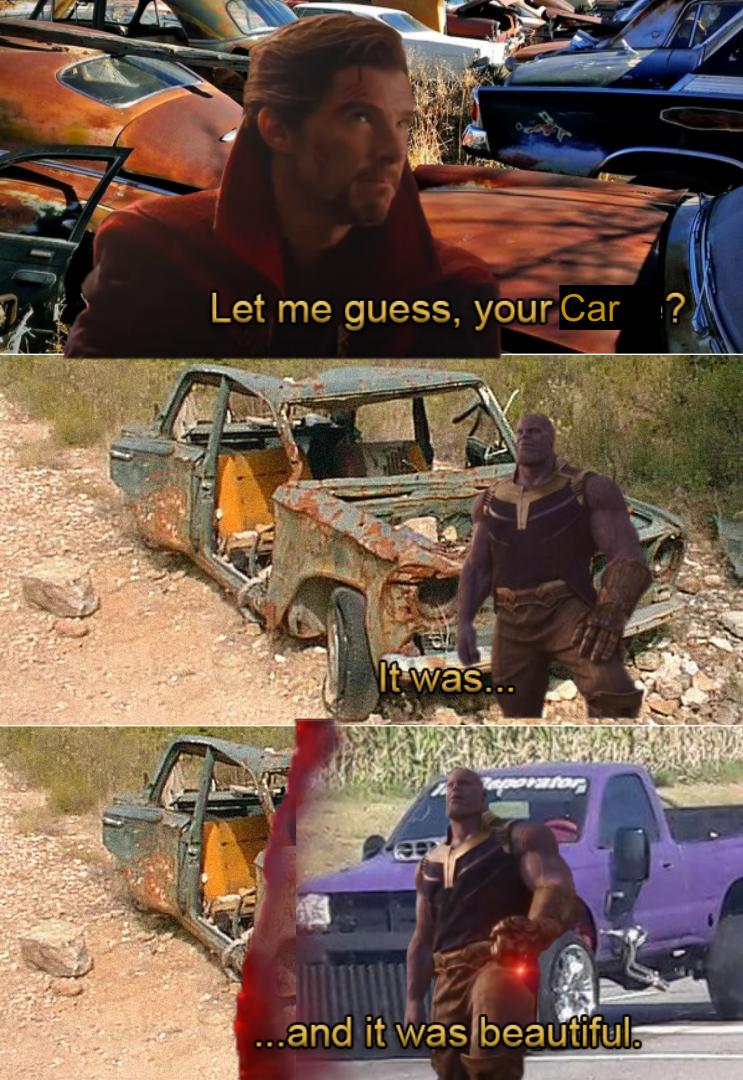 Thanos Car Thanos Car Thanos Car Thanos Car Thanos Car Thanos Car Thanos Car Funny Marvel Memes Marvel Jokes Marvel Funny