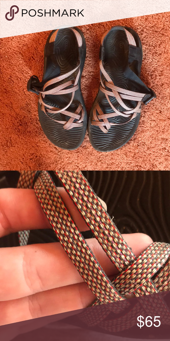 5f13ea28e612 Chacos Women s size eight gray chacos. Great for hiking! Good condition  still. Chaco Shoes Sandals