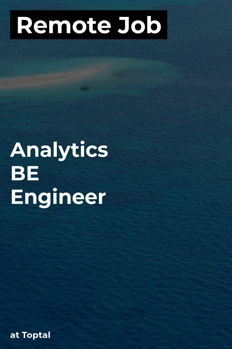 Remote Analytics BE Engineer at Toptal scala python