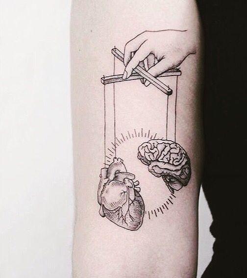 mind and heart puppet tattoo | tattoos | pinterest | tattoos, tattoo