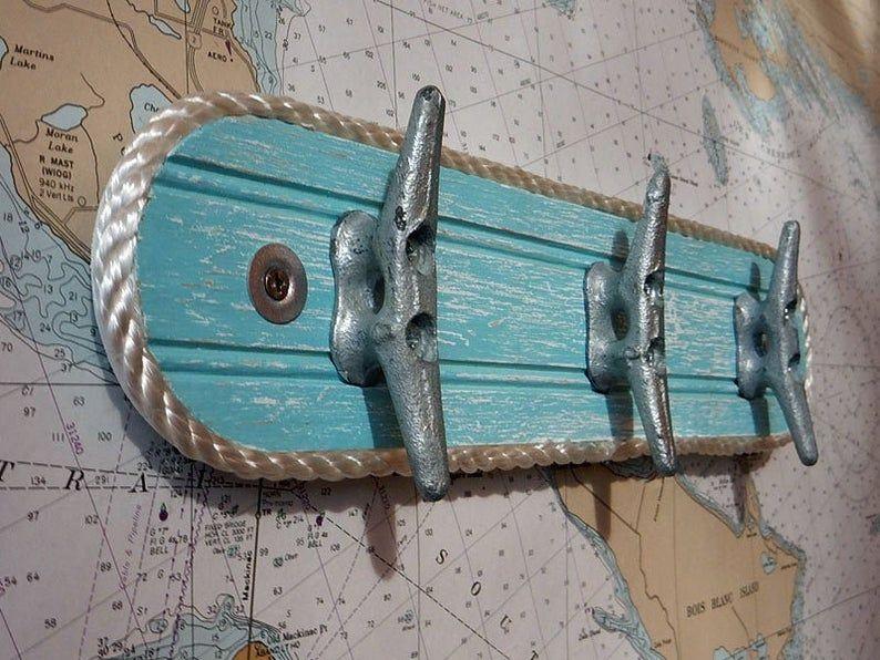 Boat Cleat Towel Rack Wall Hooks Coat Hooks Wall Hook Etsy Boat Cleats Marine Rope Caribbean Decor