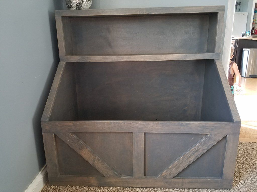 Wood toy chest i wood storage i toy storage i wood toy bin storage i