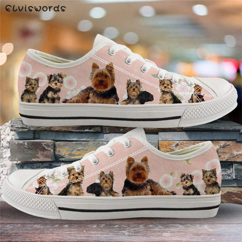 Women Canvas Shoes Low Top Lightweight Sneaker Platform Fashion Animal Cute Girl