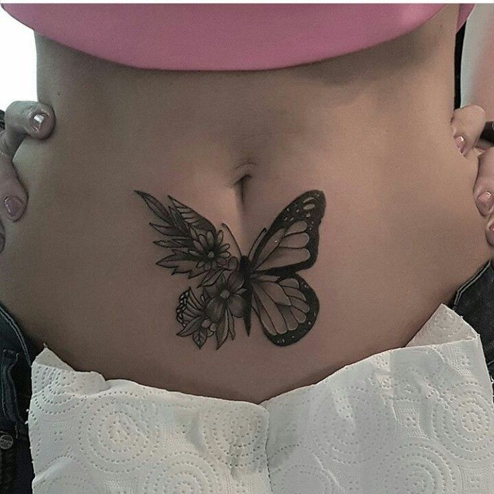 26ca6157300f6 Butterflies Stomach, Scar Tattoo, Scars Tattoo Cover Up, Belly Tattoos,  Stomach Tattoos