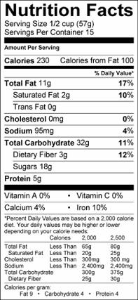 como contar calorias en los alimentos