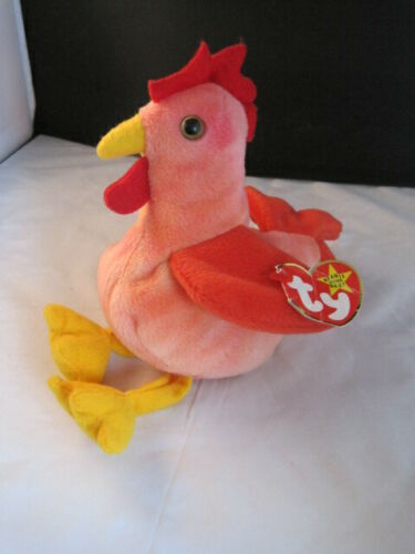 Ty Beanie Babies Doodle the Rooster Mint w// Tag PVC Pellets 1996