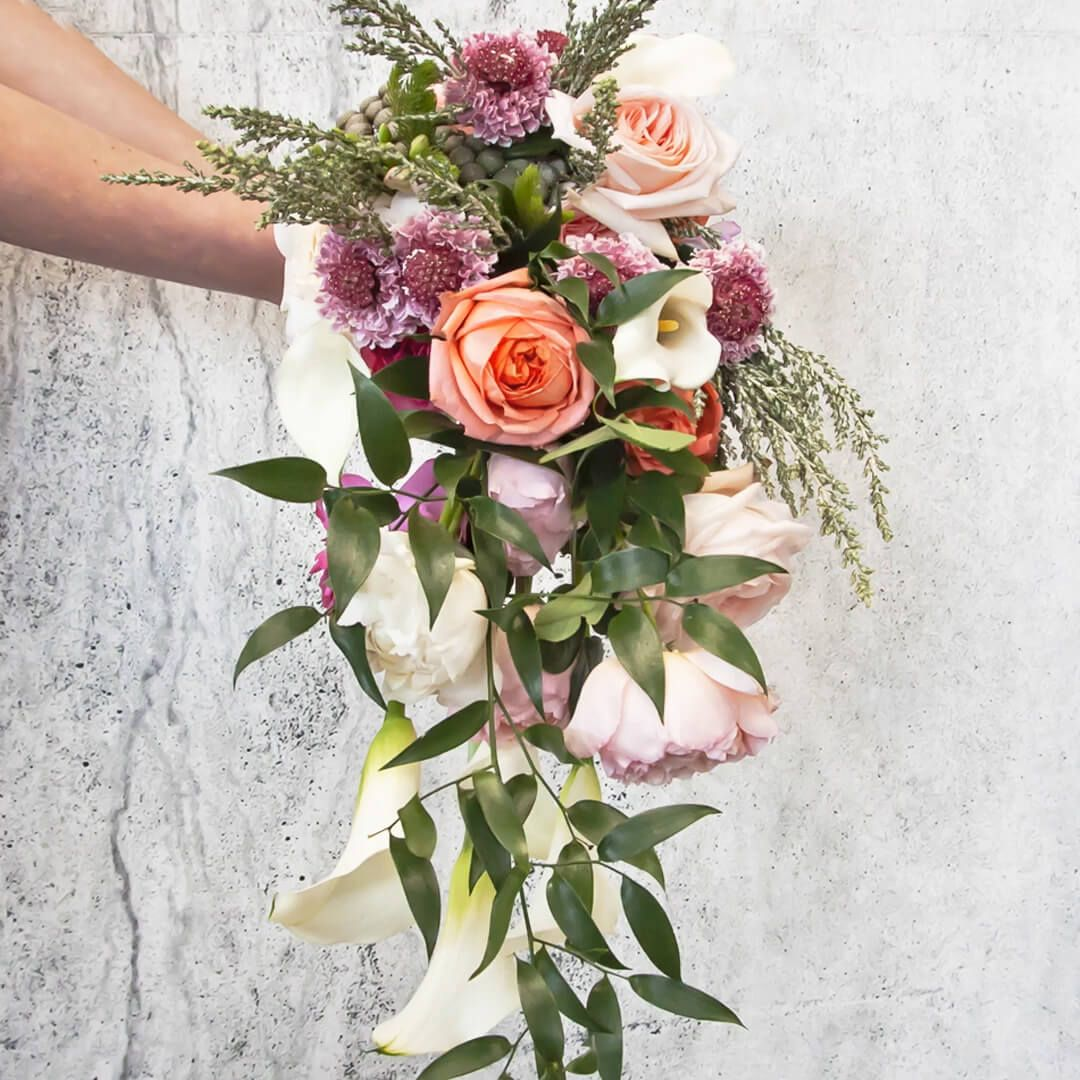 DIY Cascade Spring Wedding Bouquet (With images) Spring