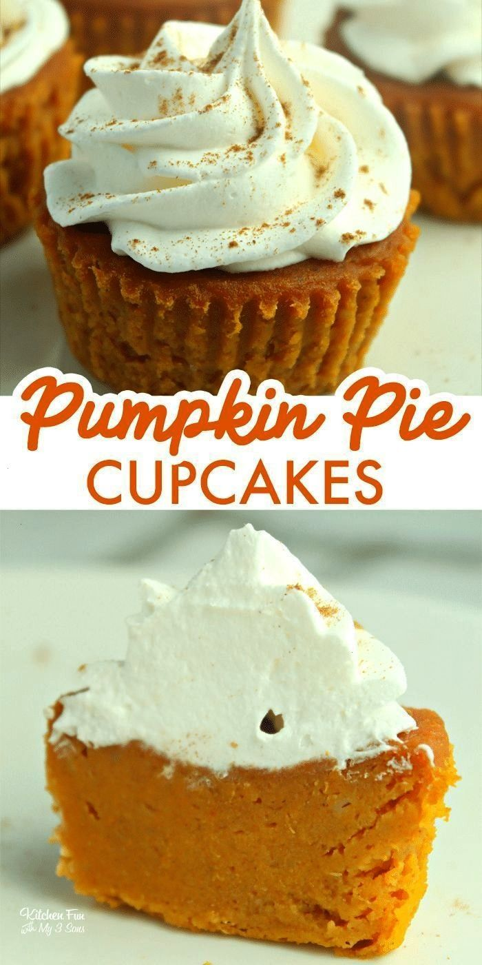 22377329386366365 Pumpkin Pie Cupcakes are tiny pumpkin pies you can eat with your hands. So yu