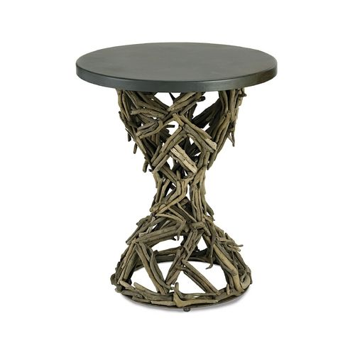 Currey and Company Lighting Accent Table in Rustic Gray/ Natural Finish | 3106 | Destination Lighting