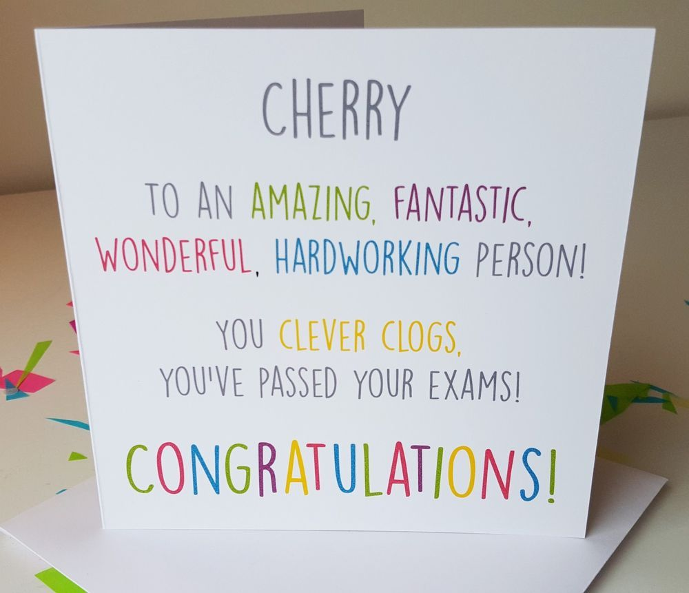 Personalised Handmade Congratulations You Ve Passed Exams Gcses