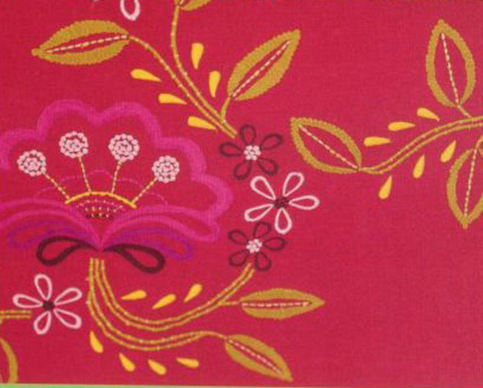 lotus floral on hot pink